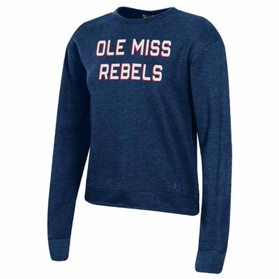OLE MISS REBELS ALL DAY FLEECE CREW