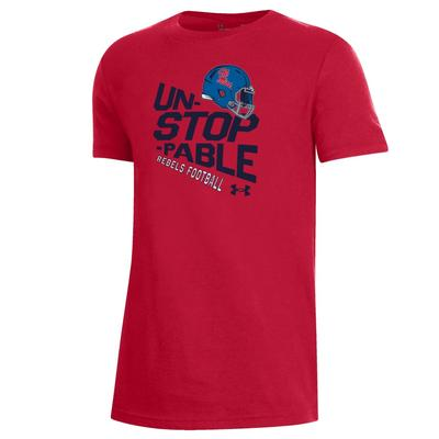 OLE MISS FOOTBALL HELMET UNSTOPPABLE PERFORMANCE COTTON SS TEE
