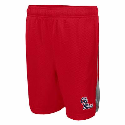 OLE MISS BOYS NIKE FRANCHISE SHORT RED