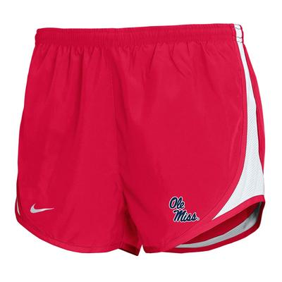 GIRLS STACKED OLE MISS TEMPO SHORT RED