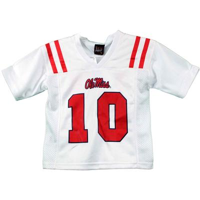 OLE MISS 10 GAME DAY FOOTBALL JERSEY WHITE