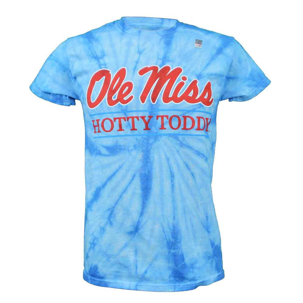 Tie- Dye Ole Miss Hotty Toddy Bar Ss T- Shirt