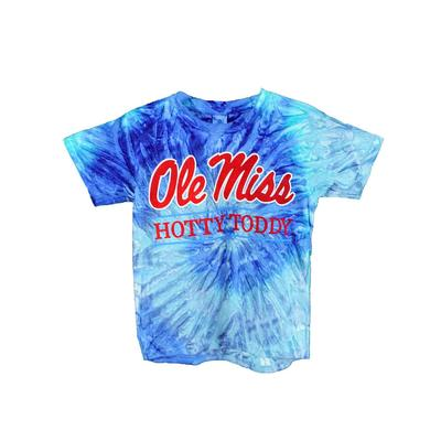 YOUTH OLE MISS HOTTY TODDY BAR SS TIE-DYE T-SHIRT BLUE_JERRY