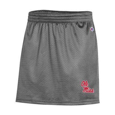 OLE MISS SMU MESH SKIRT GRANITE