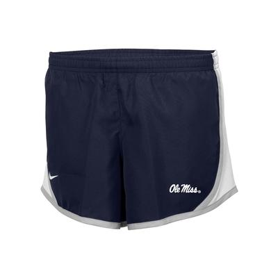 GIRLS OLE MISS TEMPO SHORT NAVY