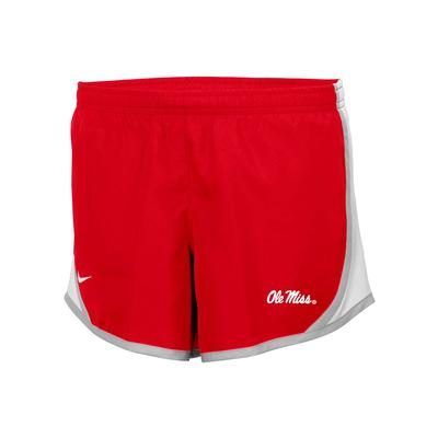 GIRLS OLE MISS TEMPO SHORT RED