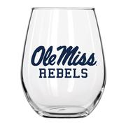 OLE MISS STEMLESS WINE GLASS