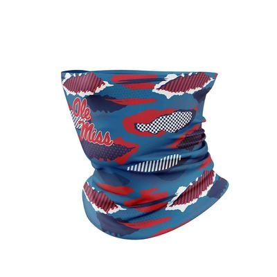 OLE MISS PATTERN NECK GAITER FACE COVER