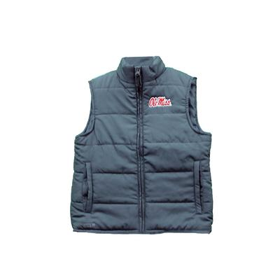 OLE MISS TAYLOR PUFFY VEST CHARCOAL