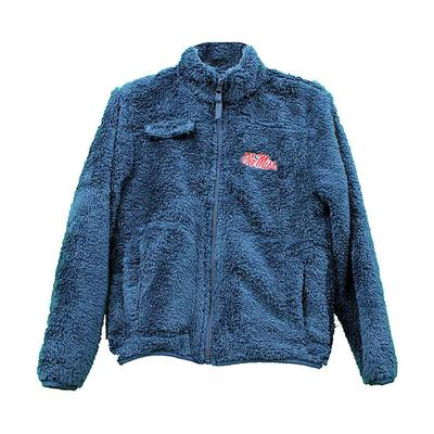 TODDLER OLE MISS SHERPA NAVY