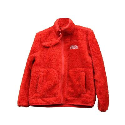 YOUTH OLE MISS SHERPA RED