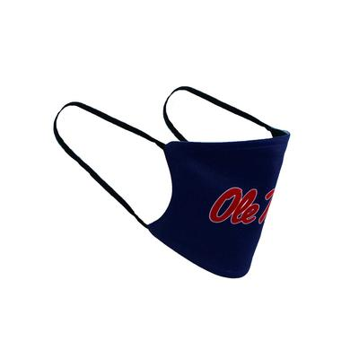 YOUTH OLE MISS FACE MASK NAVY