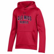 OLE MISS YOUTH ARMOUR FLEECE