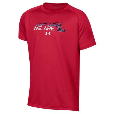 S19 BOYS WE ARE OLE MISS TECH TEE RED