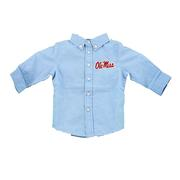 OLE MISS INFANT COLE WOVEN LS GINGHAM