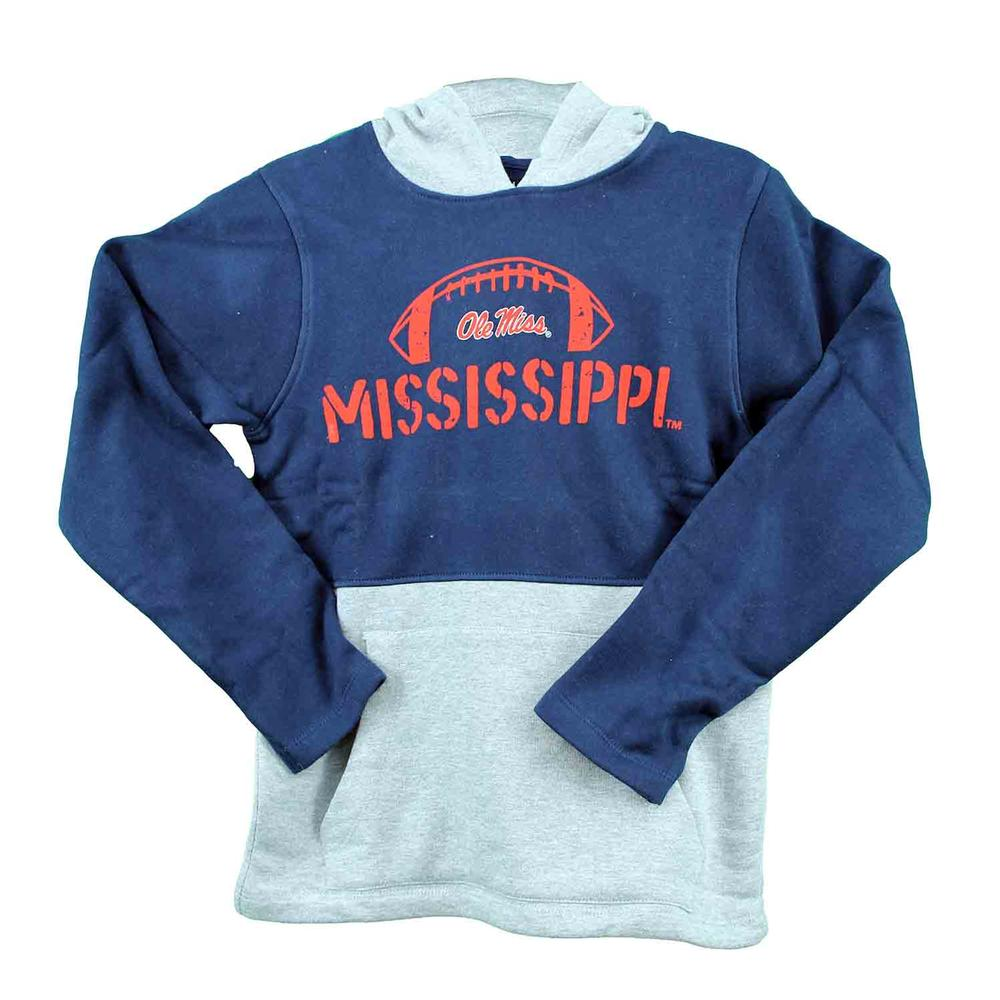 Ole Miss Davey Two Toned Hoodie