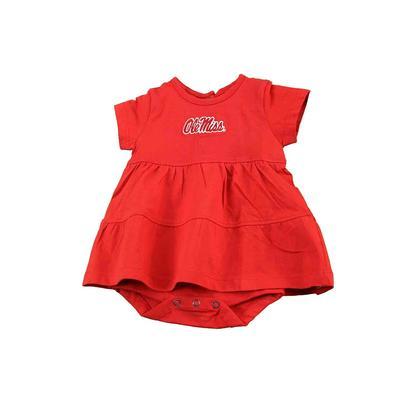 OLE MISS INFANT FIA DRESS RED