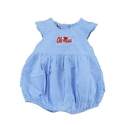 OLE MISS INFANT GINGHAM JILLIAN DRESS CAROLINA_BLUE