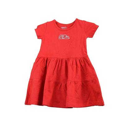 OLE MISS TODDLER FIA DRESS RED