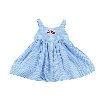 OLE MISS TODDLER GINGHAM JILLIAN DRESS CAROLINA_BLUE