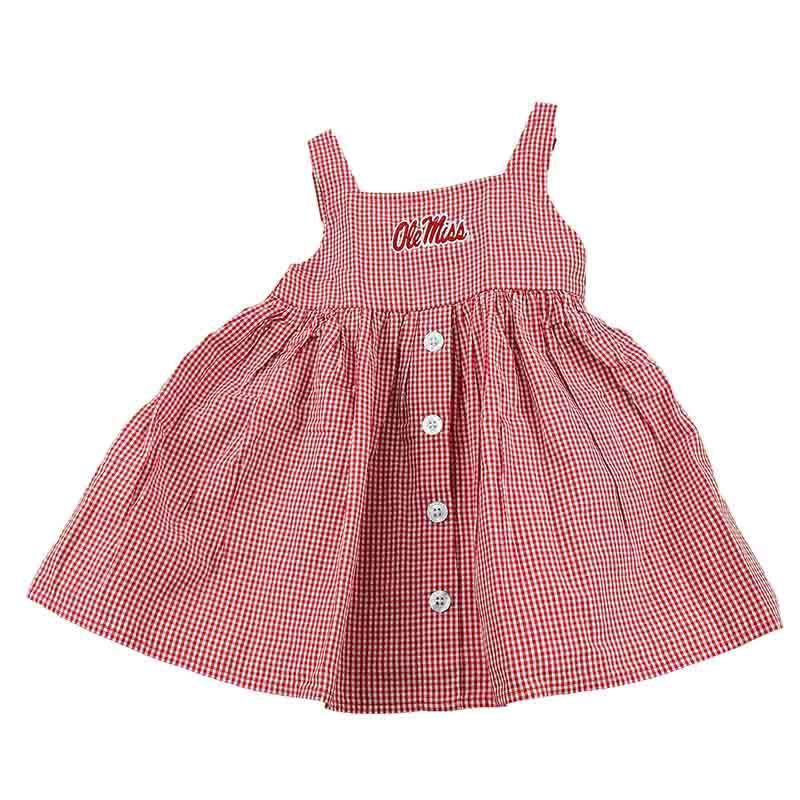 Ole Miss Toddler Gingham Jillian Dress
