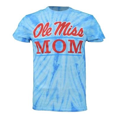 TIE-DYE OLE MISS MOM BAR SS T-SHIRT SPIDER_BABY_BLUE