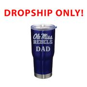 VACUUM INSULATED STAINLESS STEEL OLE MISS DAD TUMBLER