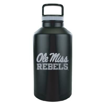 OLE MISS REBELS VACUUM INSULATED STAINLESS STEEL GROWLER BLACK