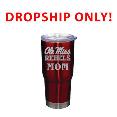VACUUM INSULATED STAINLESS STEEL MOM TUMBLER RED