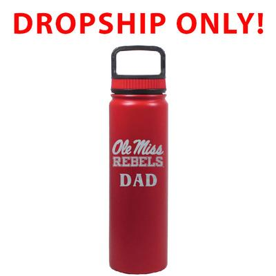 VACUUM INSULATED STAINLESS STEEL DAD EUGENE BOTTLE RED