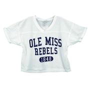 OLE MISS REBELS JERSEY ARCH WAFFLE JERSEY TOP