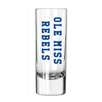 OLE MISS SHOOTER SHOT GLASS CLEAR