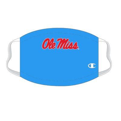 YOUTH OLE MISS FACE MASK BLUE