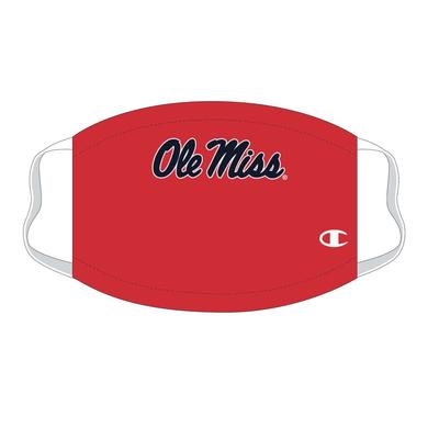 YOUTH OLE MISS FACE MASK RED