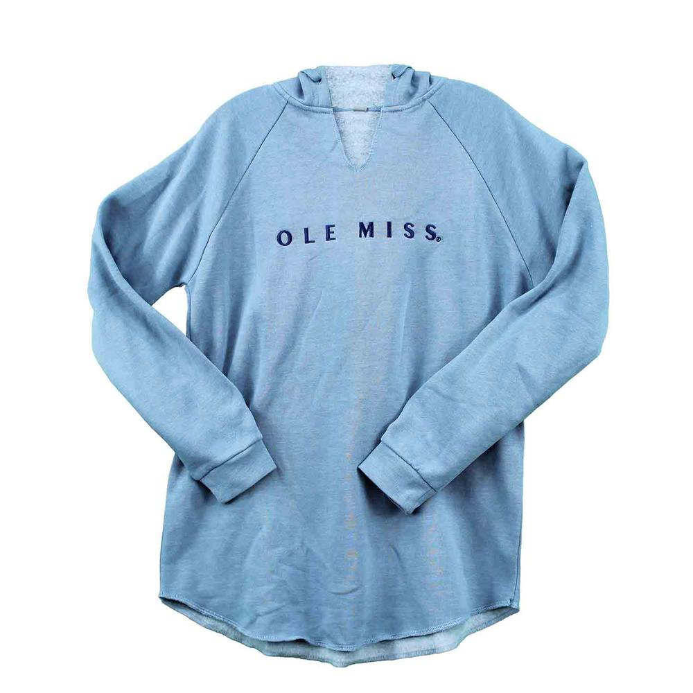 Ole Miss Wavewash Fleece Hoody