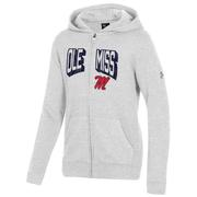 OLE MISS YOUTH ALL DAY FLEECE FULL ZIP HOOD