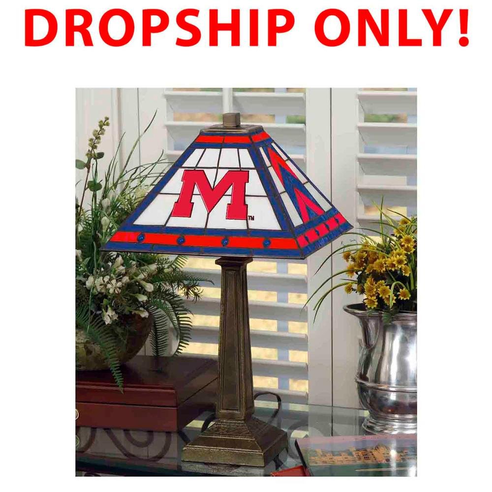 Ole Miss Stained Glass Mission Style Lamp