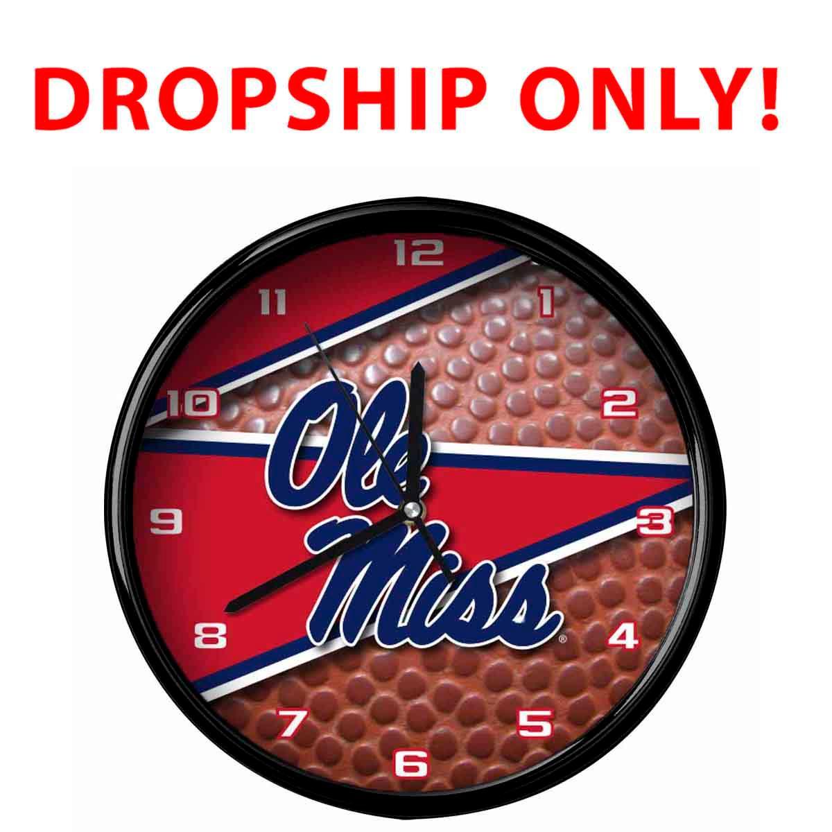 Ole Miss 12 Inch Ball Clock