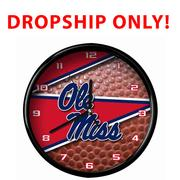OLE MISS 12 INCH BALL CLOCK