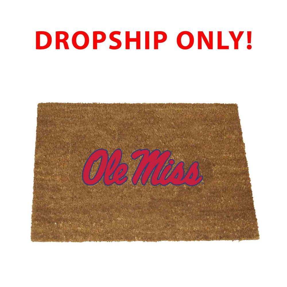 Ole Miss Logo Door Mat