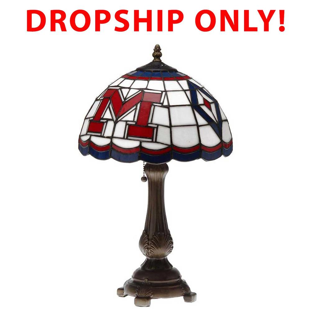 Ole Miss Stained Glass Tiffany Table Lamp