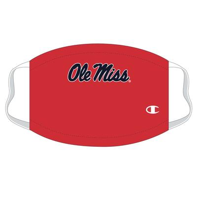 ADULT OLE MISS FACE MASK RED