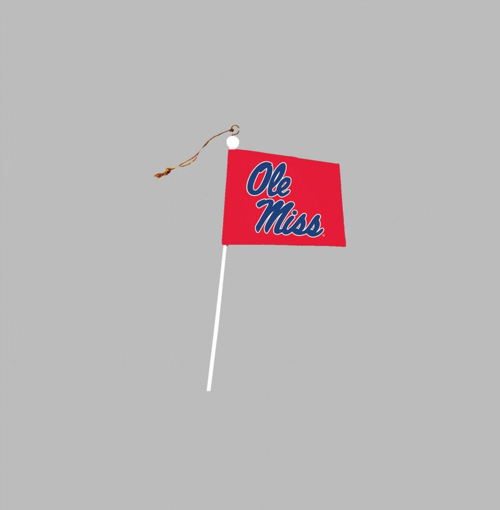 12 Inch Ole Miss Flag Ornament