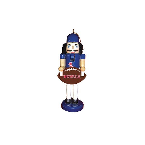 6 Inch Ole Miss Football Nutcraker Ornament