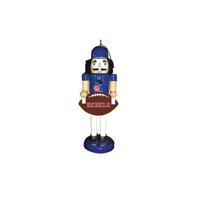 6 INCH OLE MISS FOOTBALL NUTCRAKER ORNAMENT