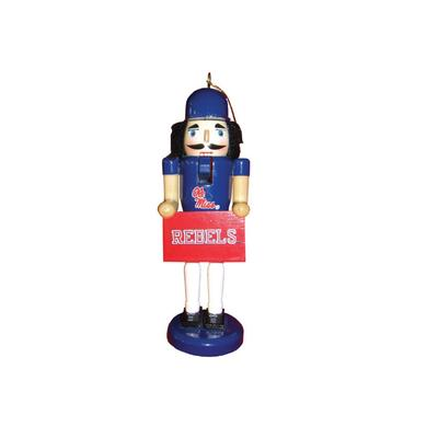 6 INCH OLE MISS REBELS NUTCRAKER ORNAMENT II