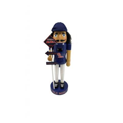 12 INCH OLE MISS RIVALRY NUTCRACKER FLAG