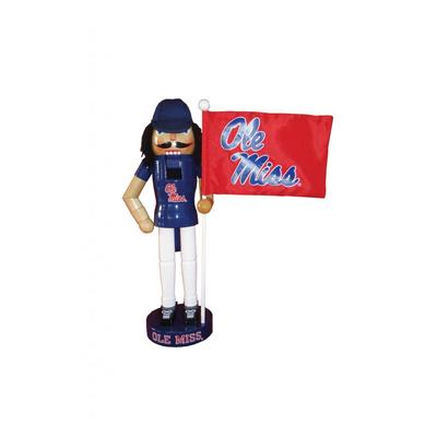 12 INCH OLE MISS NUTCRACKER FLAG