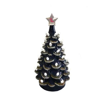 14 INCH CERAMIC OLE MISS CHRISTMAS TREE