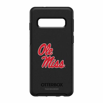 OTTERBOX BLACK SYMMETRY SERIES FOR GALAXY S10+ CASE WITH MISSISSIPPI OLE MISS PR